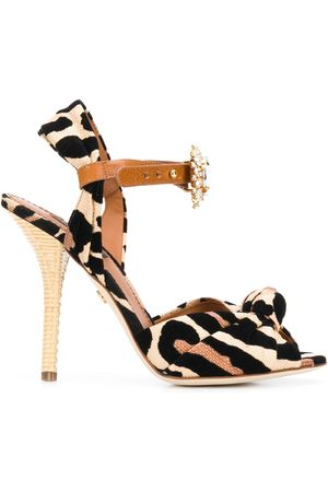 Dolce & Gabbana Jewelled leopard print sandals - Neutrals