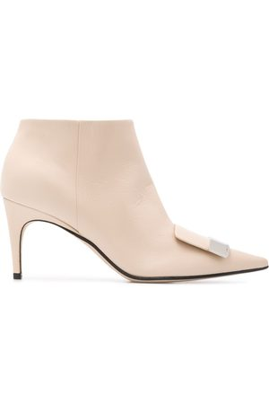 Sergio Rossi Pointed ankle boots - Neutrals