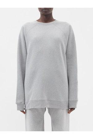 Raey Organic And Recycled-yarn Cotton-blend Sweatshirt - Womens - Grey Marl