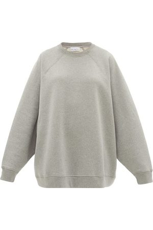 Raey Women Sweatshirts - Organic And Recycled-yarn Cotton-blend Sweatshirt - Womens - Grey Marl