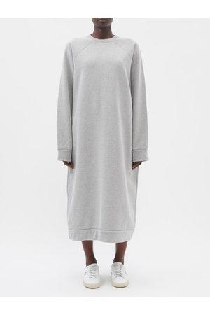 Raey Organic And Recycled-yarn Sweatshirt Dress - Womens - Grey Marl
