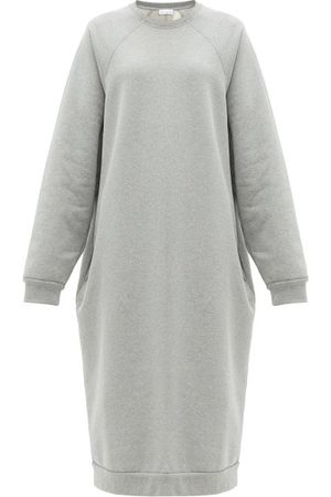 Raey Women Casual Dresses - Organic And Recycled-yarn Sweatshirt Dress - Womens - Grey Marl