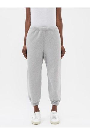 Raey Women Sweatpants - Organic And Recycled-yarn Cotton-blend Track Pants - Womens - Grey Marl