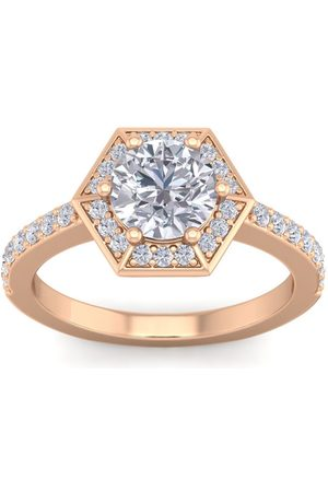 SuperJeweler 2.5 Carat Halo Diamond Engagement Ring in 14K (3.90 g) (