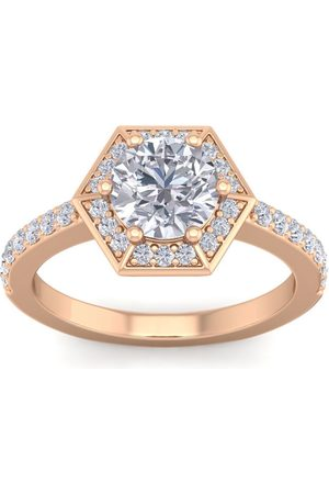 SuperJeweler 2 Carat Halo Diamond Engagement Ring in 14K (3.70 g) (