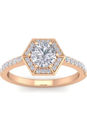SuperJeweler 1.5 Carat Halo Diamond Engagement Ring in 14K (3.60 g) (