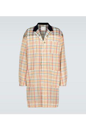 SACAI Madras checked coat