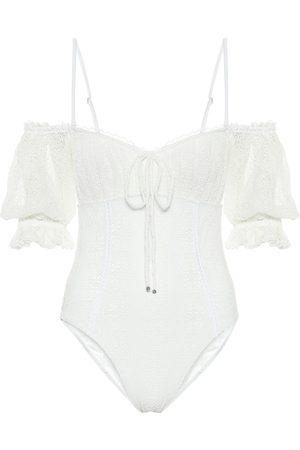 JONATHAN SIMKHAI Women Swimsuits - Sailor off-shoulder swimsuit