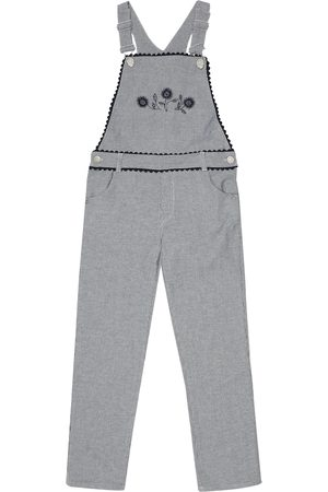 Tartine Et Chocolat Striped stretch-denim overalls