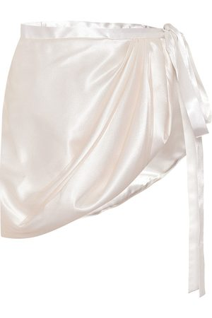 Y / PROJECT Satin wrap skirt