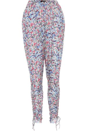 Isabel Marant Serido floral stretch-jersey pants