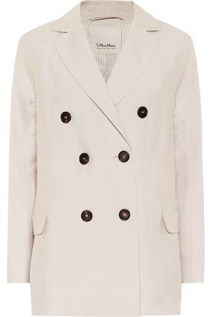 Max Mara Oronte linen-blend blazer