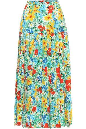 RIXO London Tina floral cotton midi skirt