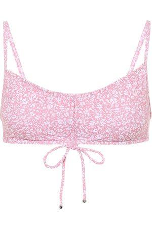 JONATHAN SIMKHAI Alina printed bikini top