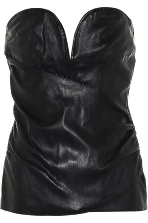 UNRAVEL Leather bustier