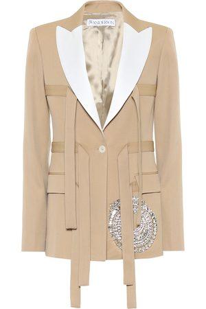 J.W.Anderson Women Blazers - Embellished virgin wool jacket