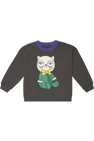 Mini Rodini Girls Hoodies - Reversible stretch-cotton sweatshirt