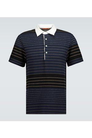 BARENA Men Polo Shirts - Striped cotton-blend polo top