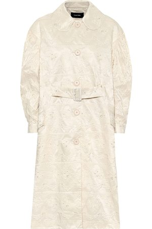 Simone Rocha Women Coats - Lace-taffeta duster coat