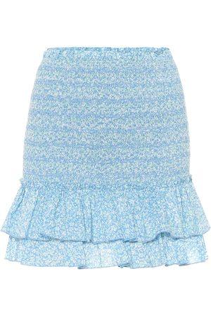 JONATHAN SIMKHAI Women Mini Skirts - Floral cotton miniskirt