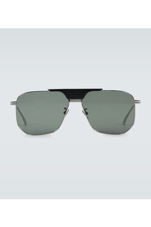 Bottega Veneta Men Aviators - Metal frame aviator sunglasses