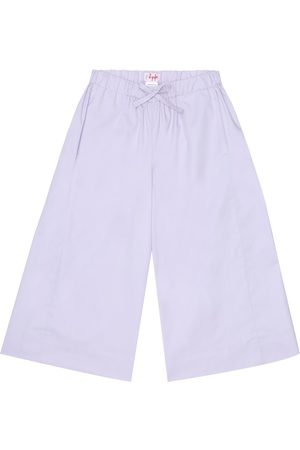 Il gufo Girls Stretch Pants - Stretch-cotton wide-leg pants