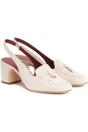 Loro Piana Charms suede slingback pumps