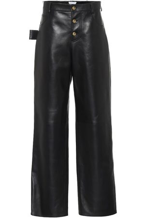 Bottega Veneta High-rise leather pants