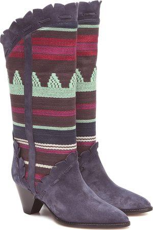 Isabel Marant Women Heeled Boots - Leesta suede-trimmed boots