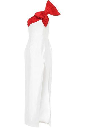 RASARIO Women Midi Dresses - One-shoulder silk dress