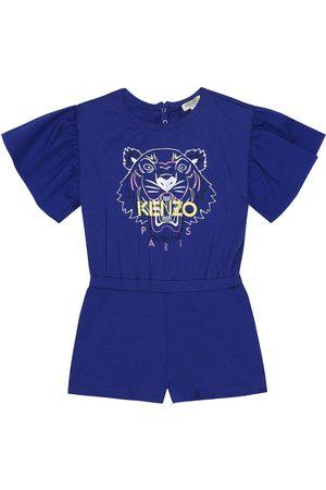Kenzo Girls Playsuits - Logo stretch-cotton playsuit