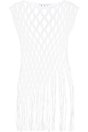 OFF-WHITE Cotton-blend macramé top