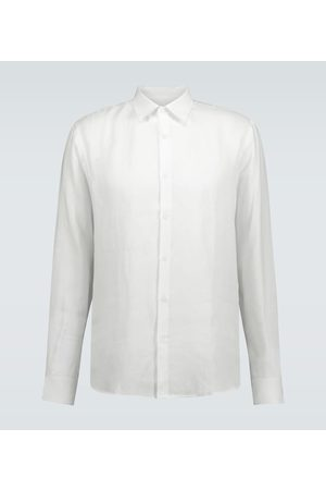 Sunspel Long-sleeved linen shirt