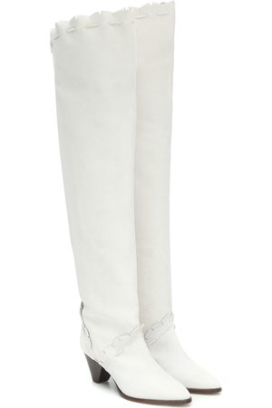 Isabel Marant Women Thigh High Boots - Luiz suede over-the-knee boots