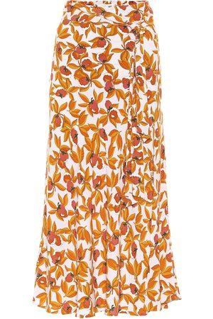 Diane von Furstenberg Women Midi Skirts - Lois crêpe midi skirt