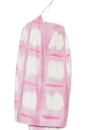 Jacquemus Women Mini Dresses - La robe Soleil checked minidress