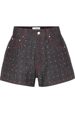 Kirin Women Shorts - Embellished high-rise denim shorts