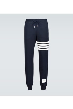 Thom Browne Men Tracksuits - 4-Bar cotton trackpants