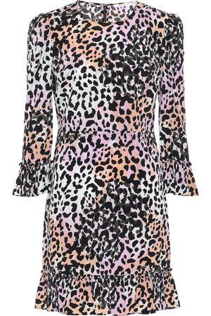 VERONICA BEARD Women Printed Dresses - Tamar printed stretch-silk minidress