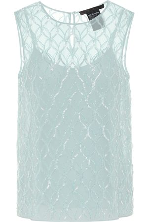Max Mara Women Tank Tops - Nogara beaded georgette top