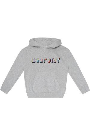 BONPOINT Boys Hoodies - Logo cotton-jersey hoodie