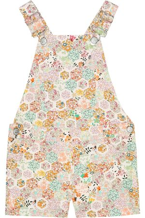 BONPOINT Girls Printed Dresses - Saga Liberty floral cotton overalls