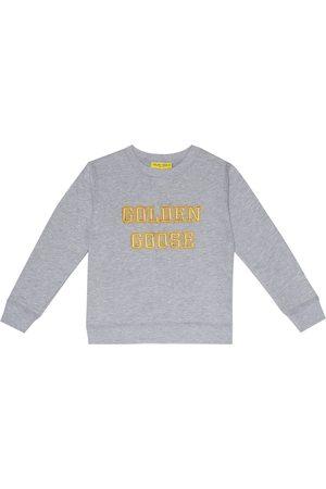 Golden Goose Girls Hoodies - Logo cotton-jersey sweatshirt