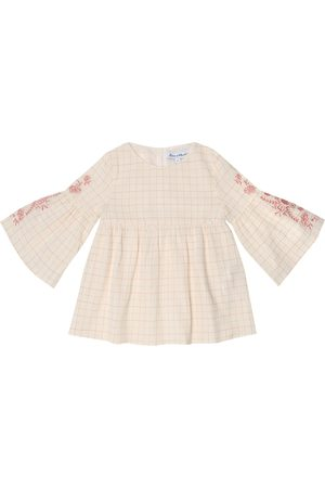 Tartine Et Chocolat Girls Tops - Checked cotton top