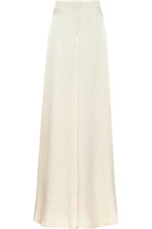 TEMPERLEY LONDON Women Wide Leg Pants - Castalia silk-satin bridal pants
