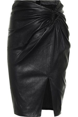 UNRAVEL Women Mini Skirts - Leather mini skirt