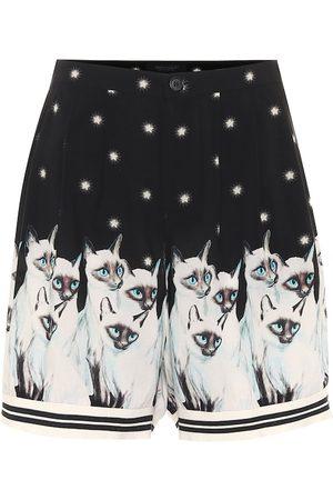 UNDERCOVER Women Shorts - Printed rayon shorts