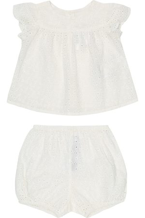 BONPOINT Sets - Baby Lilou cotton top and bloomers set