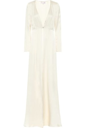 TEMPERLEY LONDON Women Coats - Julianna silk-satin bridal coat