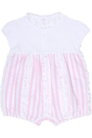 Il gufo Rompers - Baby striped cotton onesie